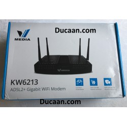 Vmedia KW6213 VDSL ADSL2 Gigabit Wifi Router with Modem