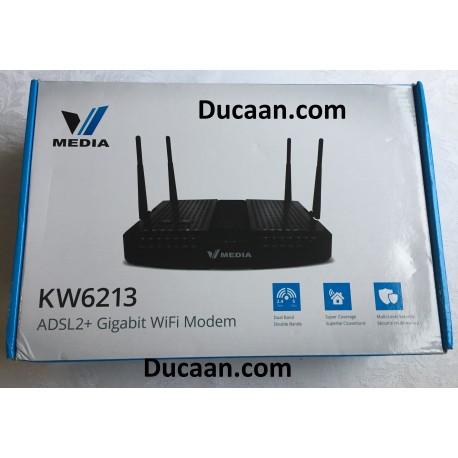 Vmedia KW6213 VDSL ADSL2 Gigabit Wifi Router with Modem