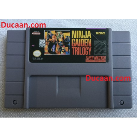 SNES NINJA GAIDEN TRILOGY SUPER NINTENDO-High Quality Reproduction