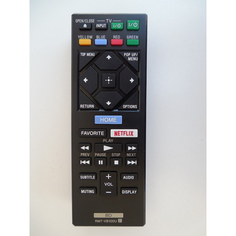 Original Sony Rmt-vb100u 4k DVD Blu-ray Player Remote