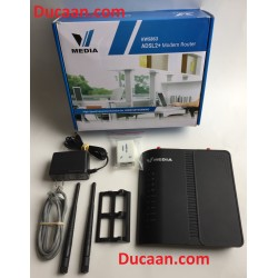 Vmedia Kasda KW5863 ADSL/ADSL2 Modem Router + Voip + Wireless Internet 802.11n