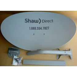 SHAW DIRECT TRIPLE QUAD OUTPUT DISH COMPLETE MOUNTING KIT - NO LNB