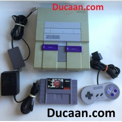 Super Nintendo Entertainment System –SNES- Gray Console Complete (Model SNS-001)