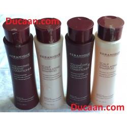 LOT OF 4-Keranique 12oz Scalp Stimulating Shampoo & Volumizing Keratin Conditioner