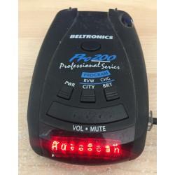 Beltronics Pro 200 Professional Series Radar Detector (P/N: 162009-00)