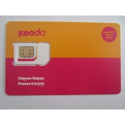 LOT OF 10- Koodo Multi Sim Card (Nano / Micro /Regular) 3G 4G LTE POSTPAID - FREE Shipping