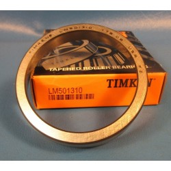 "Timken LM501310 Tapered Roller Bearing Outer Race Cup, Steel, Inch, 2.891"" Outer Diameter, 0.5800"" Cup Width"