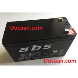 ABS Brand maintenance free rechargeable battery lead calcium Model ABS 12-7