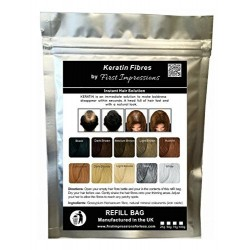 100% Natural Keratin Hair Fibre Refill For Hair Loss - (100g, Dark Brown) by First Impressions Hair Fibres