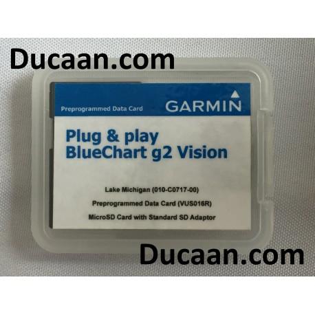 Garmin BlueChart g2 Vision – Lake Michigan (010-C0717-00)- Programmed Data Card (VUS016R)  - microSD