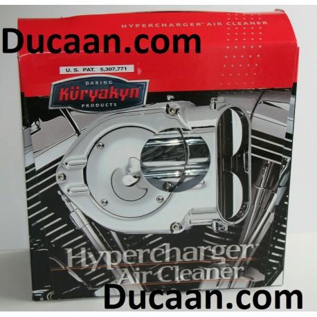 Kuryakyn Hypercharger Blood Groove Design Air Cleaner w/Chrome Butterflies - 9992