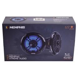 Memphis MXA602SLB 6.5 inch 40W RMS 2-Way Marine Grade Construction Coaxial Speakers