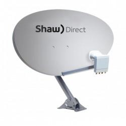 Shaw Direct 75E (36 inch / 90cm) Satellite Dish w/ Triple Satellite xKu Quad LNB