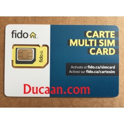 Fido Multi sim card (Regular + Micro + Nano) 3 in 1 LTE /4G