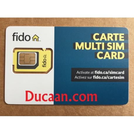 Fido Multi sim card (Regular + Micro + Nano) 3 in 1 LTE /4G