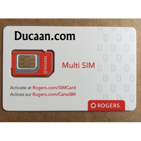Rogers multi sim card Nano Micro Regular 3G 4G Lte Triple